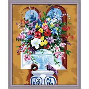 Летнее разноцветие Раскраска по номерам акриловыми красками на холсте Hobbart