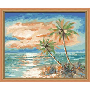 Мальдивы Раскраска по номерам акриловыми красками на холсте Hobbart