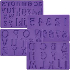 Буквы и цифры Мат (молд) для нанесения рисунка на мастику Wilton ( Вилтон )