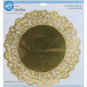 Золотые Салфетки 30см под торт Wilton ( Вилтон )