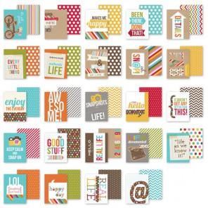 Snappy Sayings Набор карточек-тэгов для смэшбука Snap Simple Stories