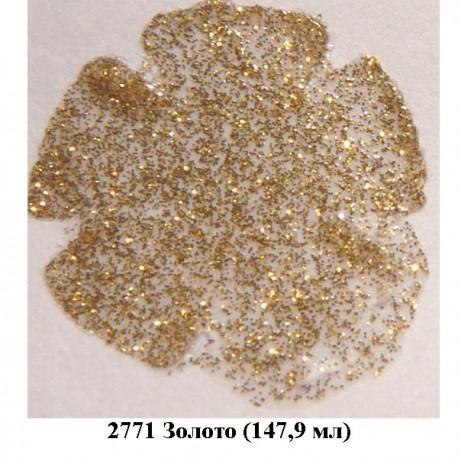 2771 Золото Сверкающая краска Экстрим FolkArt Plaid
